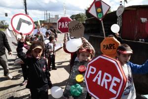 Semana do trânsito na Escola Municipal Governador Heriberto Hulse