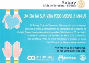 Campanha Club Rotary Teresina - Hemopi