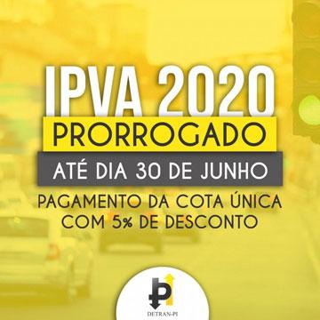 ipva 2020 prorrogado